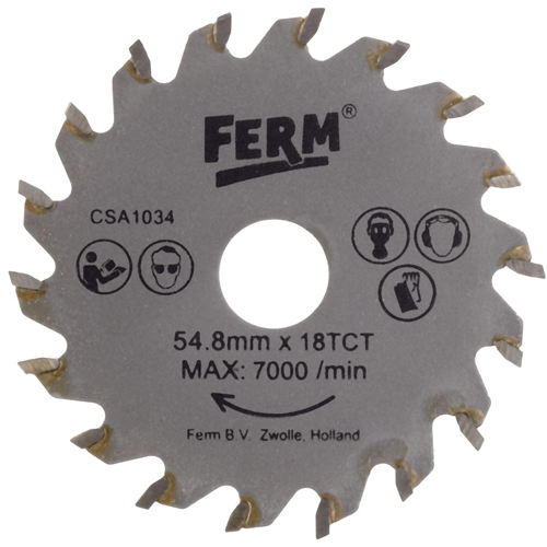 Ferm Precíziós körfűrész tárcsa   18TCT (CSA1034)